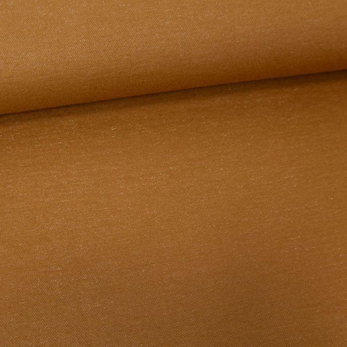 Tissu viscose lurex - marron x 10 cm