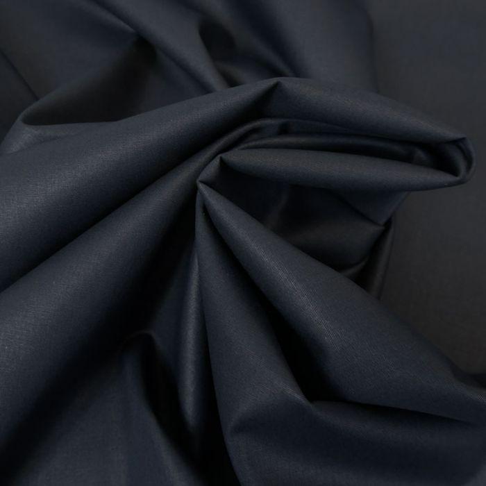 Tissu coton popeline bio - bleu marine x 10 cm