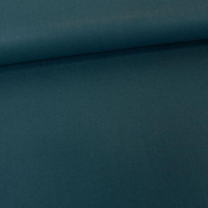Tissu coton popeline bio - bleu pétrole x 10 cm