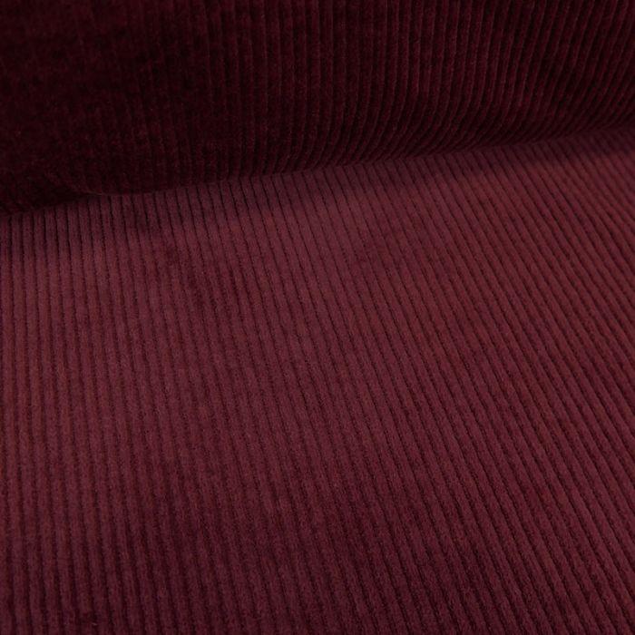 Tissu velours côtelé stretch uni - prune x 10 cm