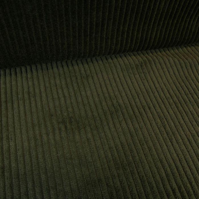 Tissu velours côtelé - kaki x 10 cm
