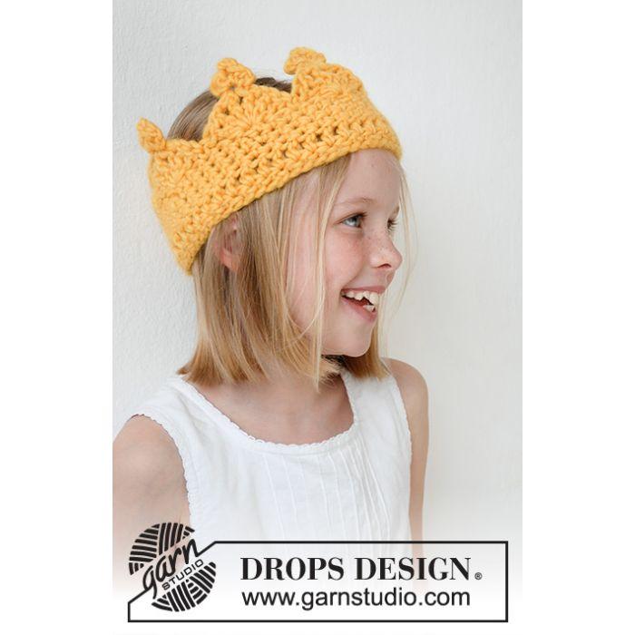 Kit crochet couronne Queen Guinevere - DROPS Design