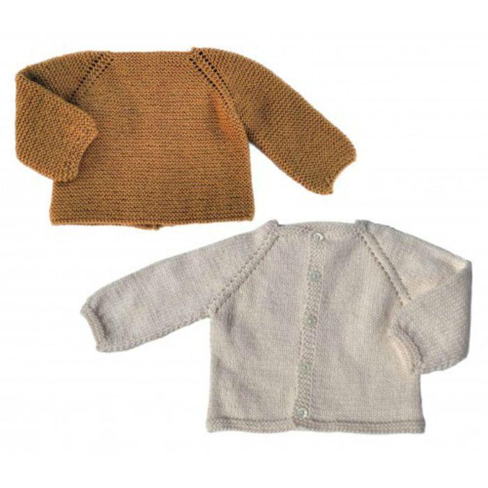 Kit tricot layette Brassière ou cardigan - les Tricots de Citronille