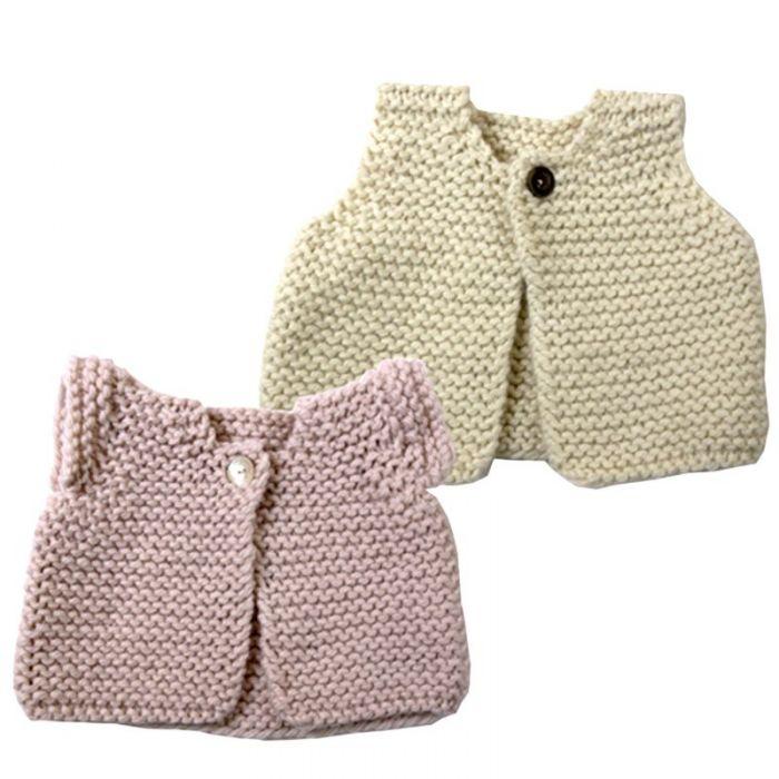 Kit tricot layette Le gilet de berger des bébés - les Tricots de Citronille