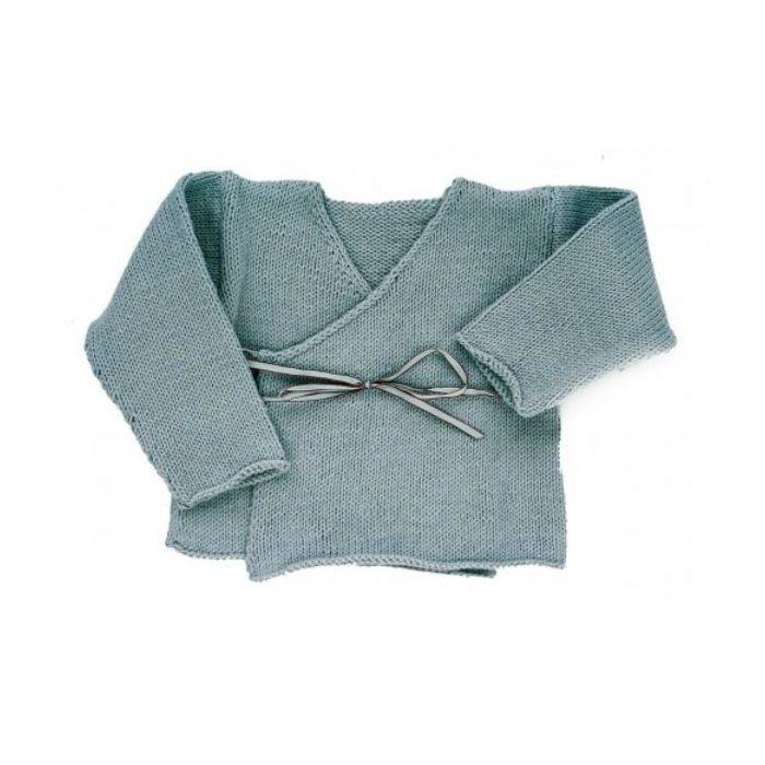 Kit tricot layette Brassière cache-coeur - les Tricots de Citronille