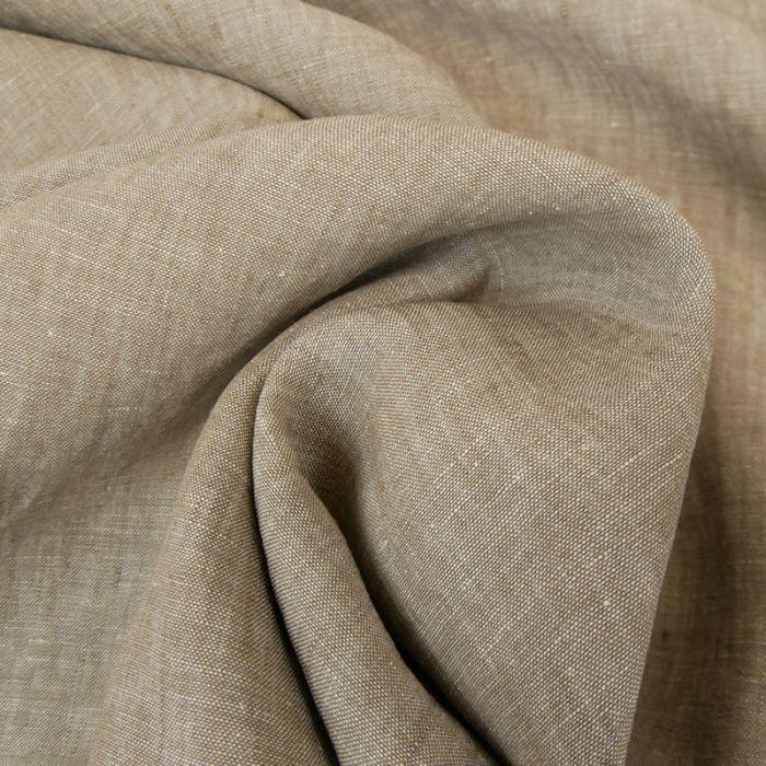 Tissu lin chiné - gris x 10 cm