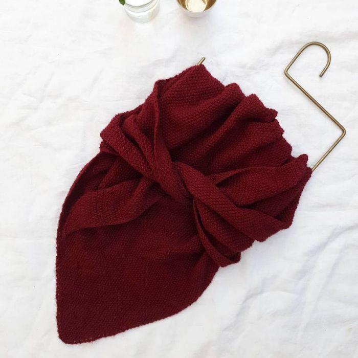 Kit tricot châle Petra - Petite Biche Rose