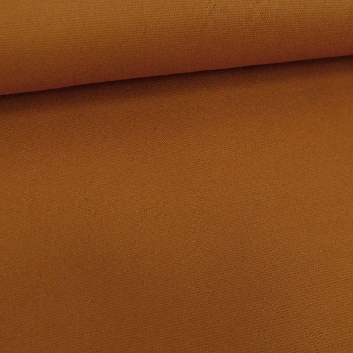 Tissu flanelle coton uni - auburn x 10 cm