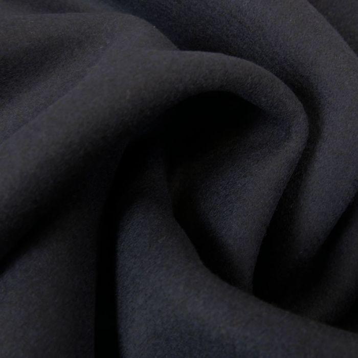 Tissu lainage bleu marine - haute couture x 10 cm