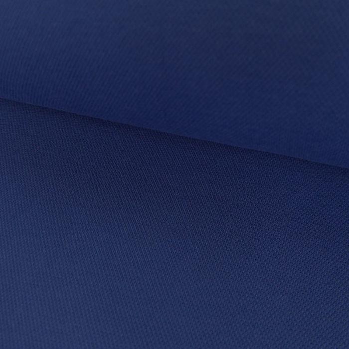 Tissu jersey piqué polo - bleu roi x 10cm