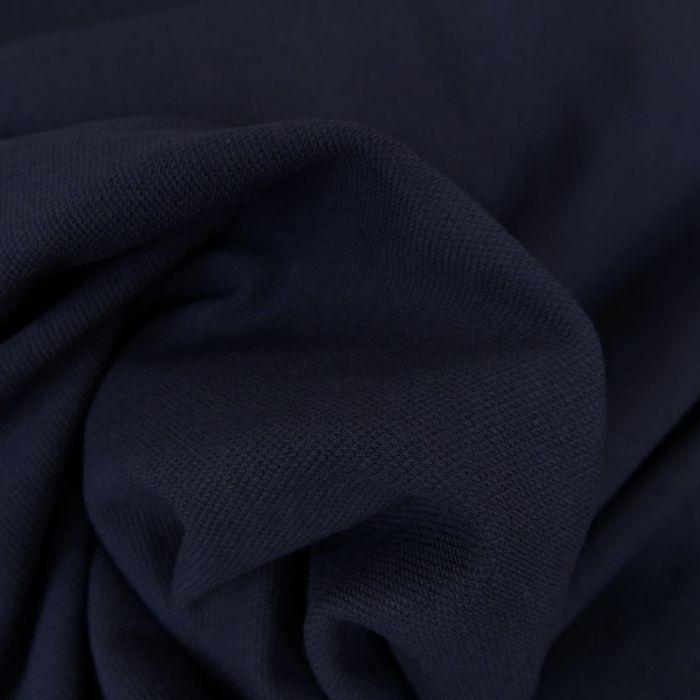 Tissu jersey piqué polo - marine foncé x 10cm