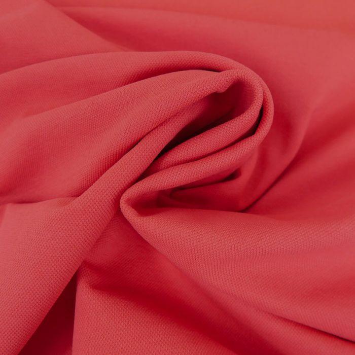 Tissu jersey piqué polo - rouge x 10cm