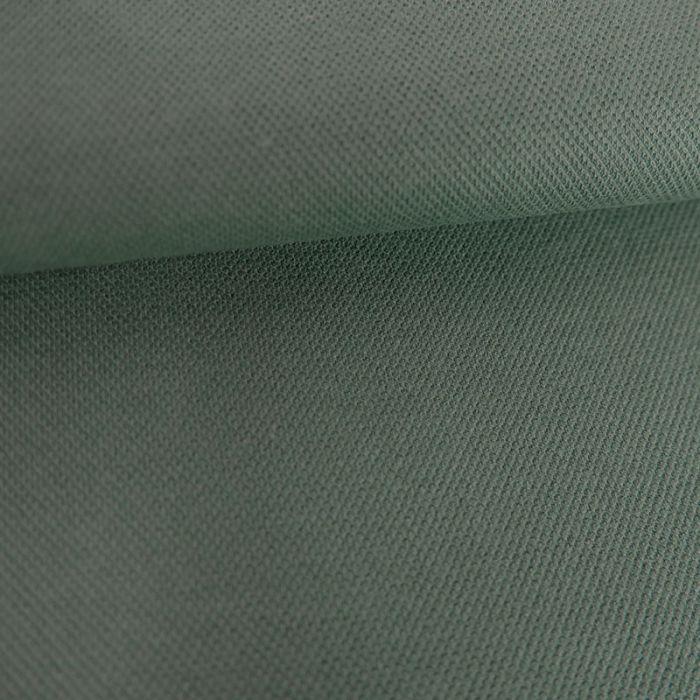 Tissu jersey piqué polo - mint foncé x 10cm