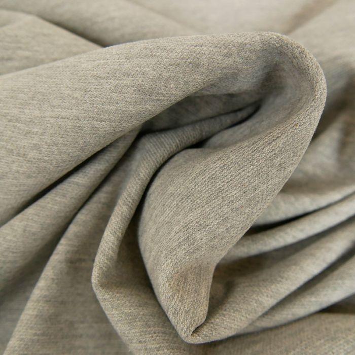 Tissu jersey piqué polo - gris chiné x 10cm