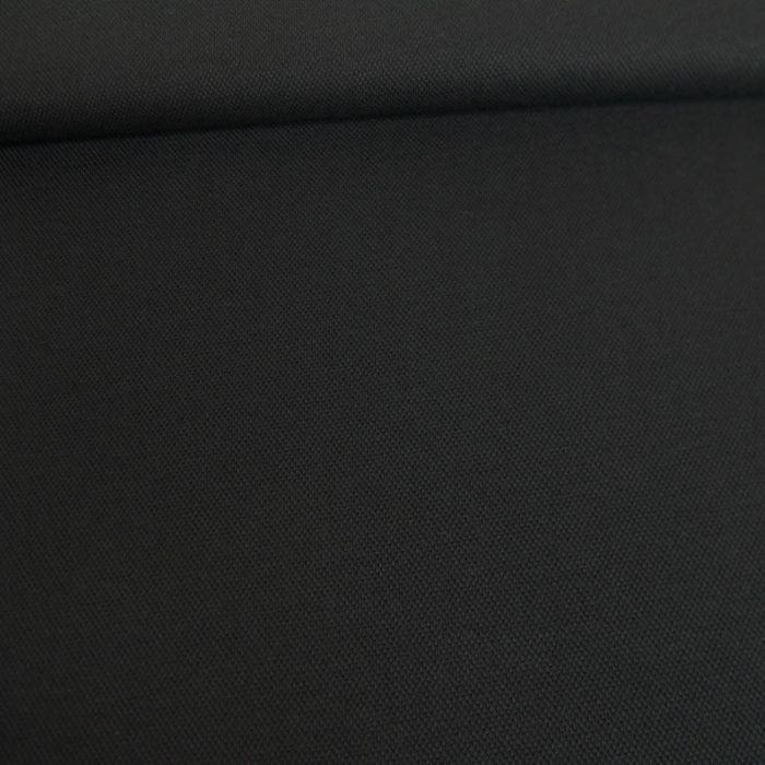 Tissu jersey piqué polo - noir x 10cm