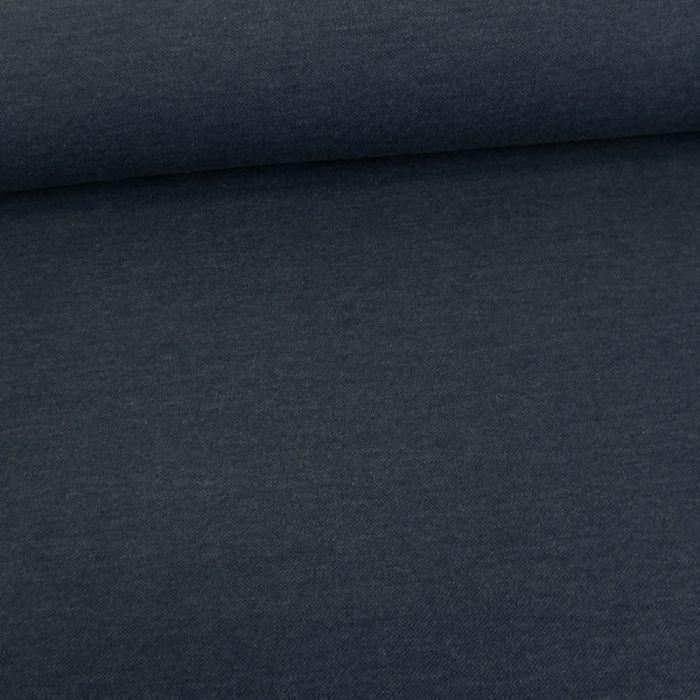 Tissu jersey piqué polo - bleu jean x 10cm