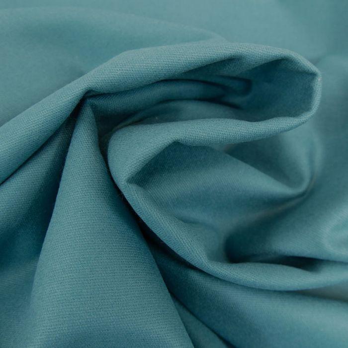 Tissu flanelle coton uni - bleu paon x 10 cm