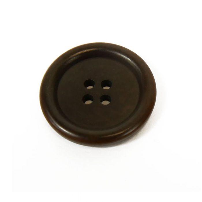 Bouton corozo classique à rebord - marron x1
