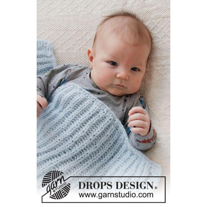Kit tricot couverture Bonne nuit - DROPS Design