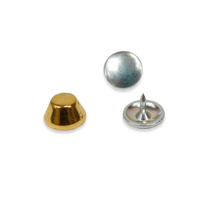 Pied de sac en métal 10 mm - doré