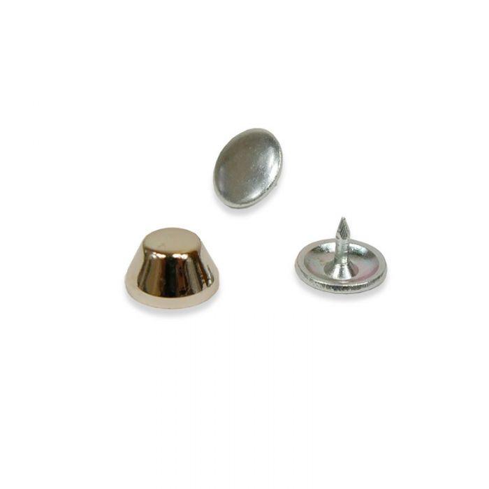 Pied de sac en métal 10 mm - argent