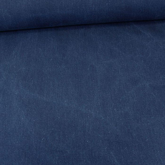 Tissu denim - bleu roi x 10 cm