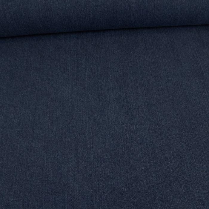 Tissu denim stretch - bleu jean x 10 cm