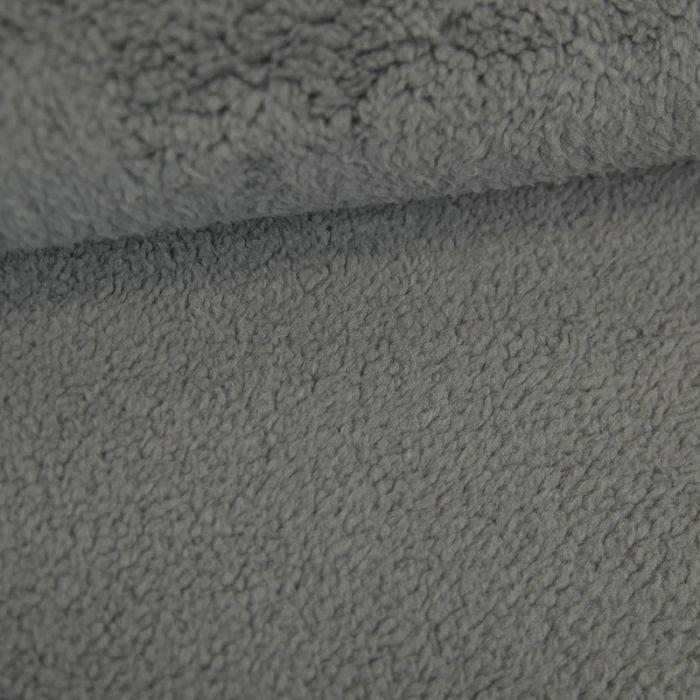 Tissu fausse fourrure peluche - gris foncé x 10 cm