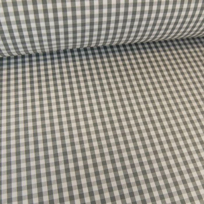 Tissu coton vichy - gris x 10cm