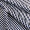 Tissu coton vichy - bleu marine x 10cm