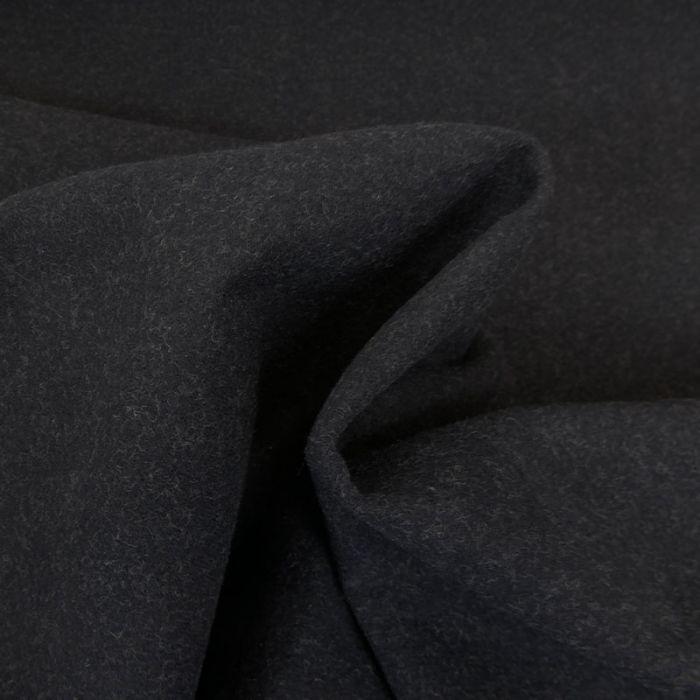 Tissu lainage réversible - noir et beige  x 10 cm