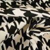 Tissu jacquard pied de coq - noir x 10 cm