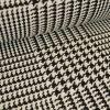 Tissu jacquard prince de Galles - noir x 10 cm