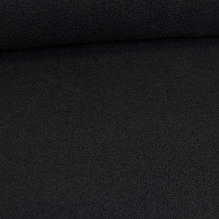 Tissu laine et lin - bleu marine  x 10 cm