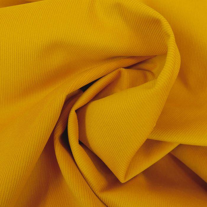 Tissu velours milleraies - moutarde x 10 cm