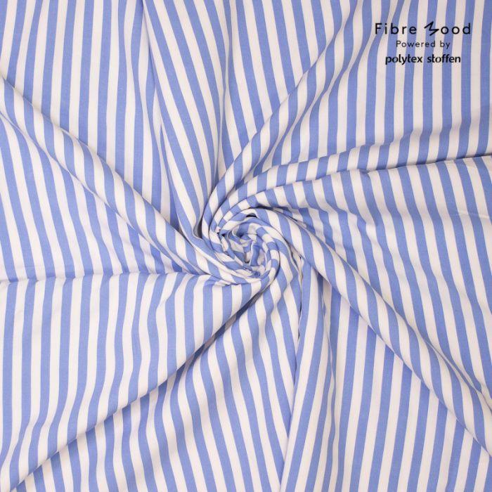 Tissu viscose rayures bleues et blanches - Fibre Mood x 10 cm