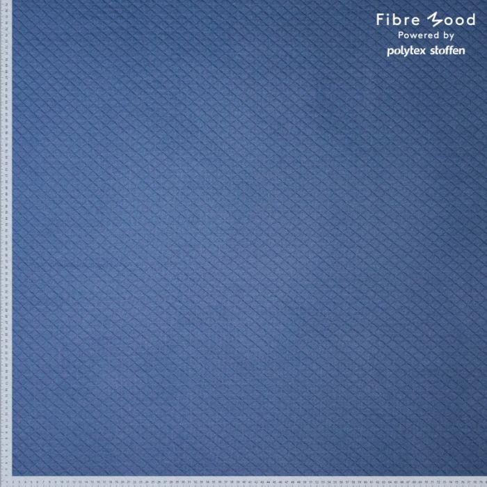 Tissu jersey sweat matelassé bleu jean - Fibre Mood x 10 cm
