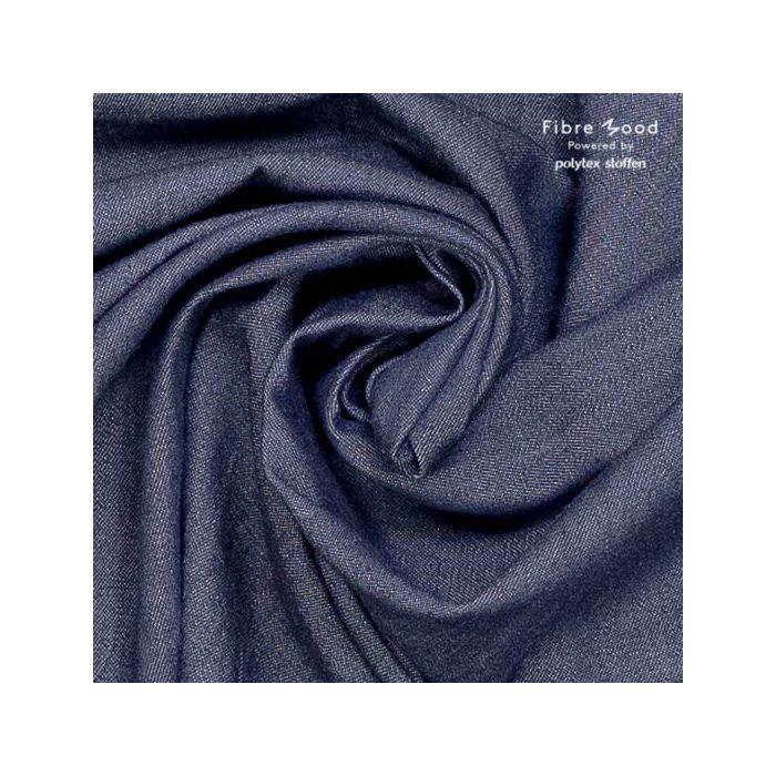 Tissu chambray bleu jean foncé  - Fibre Mood x 10 cm