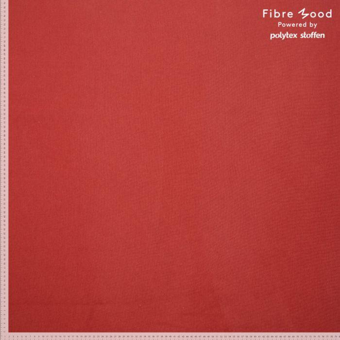Tissu bord-côte tubulaire rouge brique - Fibre Mood x 10 cm