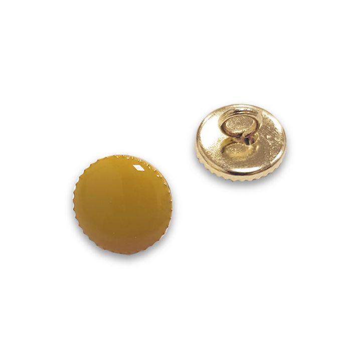 Bouton à pied métal doré - moutarde x1