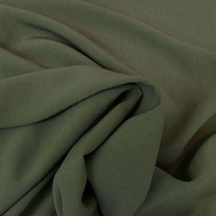 Tissu viscose uni - kaki x 10 cm