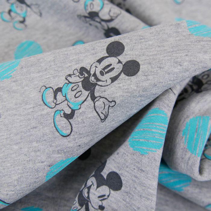 Tissu jersey Mickey - gris clair x 10 cm