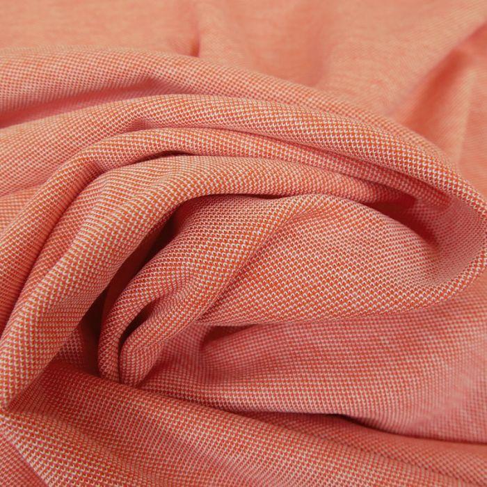 Tissu jersey piqué - saumon x 10cm