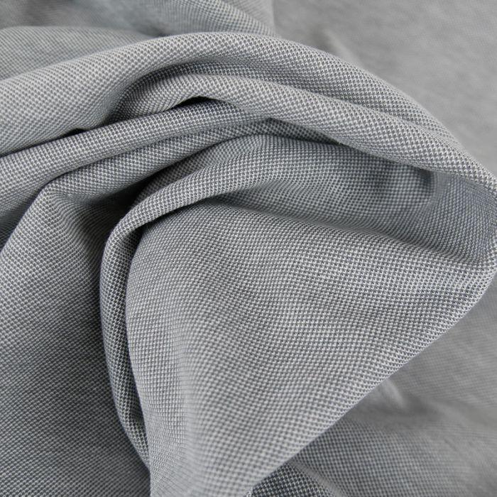 Tissu jersey piqué - gris x 10cm