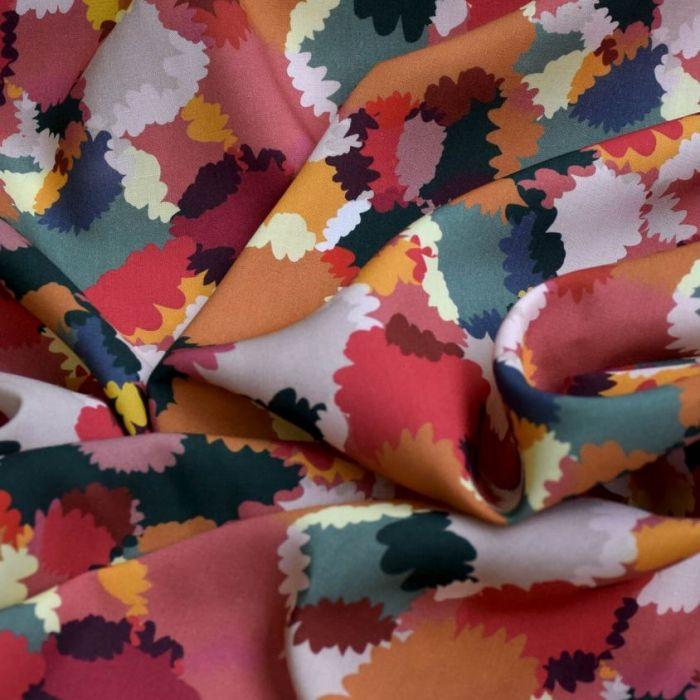 Tissu viscose Bouquet d'été - Cousette x 10 cm