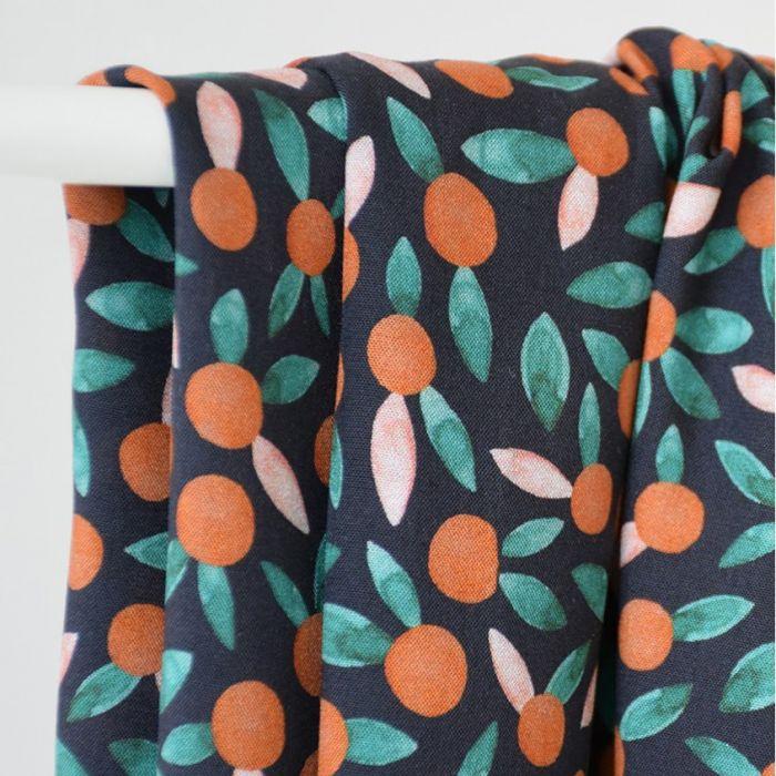 Tissu viscose Chérie chesnut - Cousette x 10 cm
