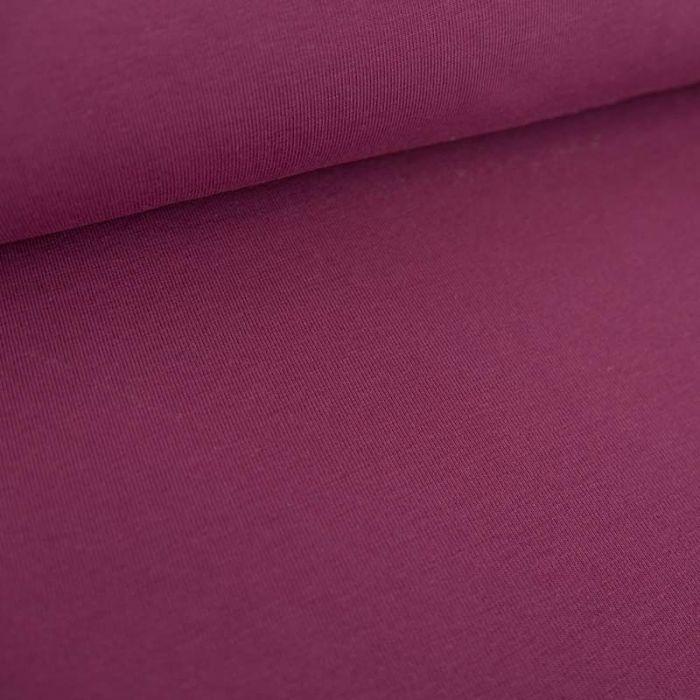 Tissu jersey coton bio uni - prune x 10cm