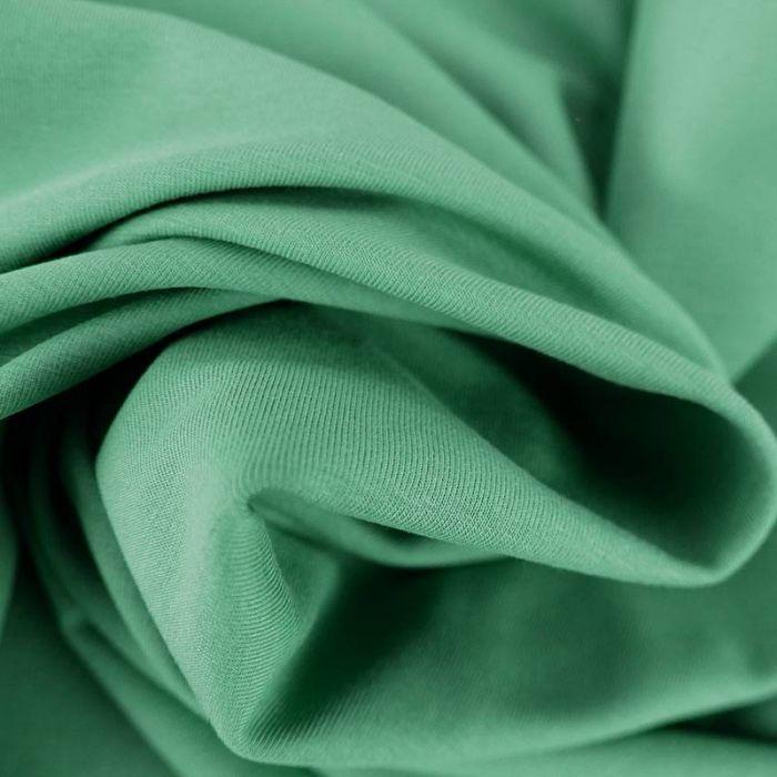 Tissu jersey coton bio uni - vert sauge x 10cm