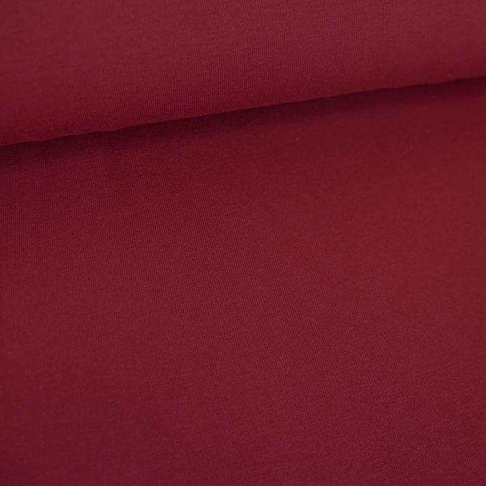 Tissu jersey coton bio uni - bordeaux x 10cm