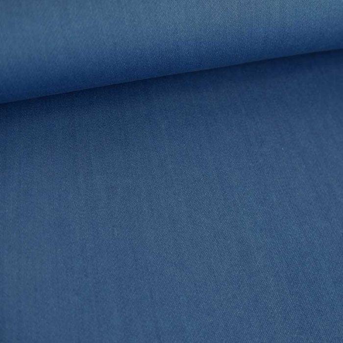 Tissu denim stretch - bleu x 10 cm